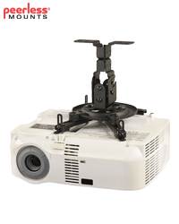 Peerless PPF Flush Ceiling Projector Mount for Projectors Weighing Up to 23kg